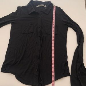 Michael Stars Tops - NWOT Michael Stars Dark Charcoal Button Down Top